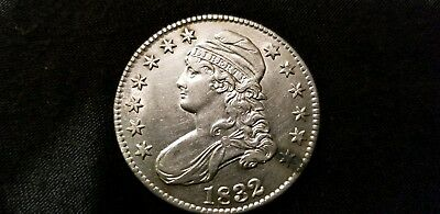 1832 50c Capped Bust Half Dollar United States Silver Coin