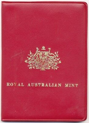1972 Royal Australian Mint Coin Set In Red Plastic Wallet 6-Coins Unc