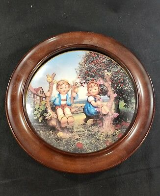 Danbury Mint M.j. Hummel Apple Tree Boy And Girl Plate
