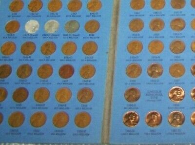 1941- 1974 LINCOLN CENT SET COLLECTION in a WHITMAN FOLDER **FREE SHIPPING**