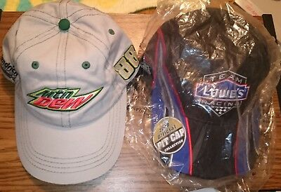 68dbec72b 2 HATS NASCAR Lowe's Racing Jimmie Johnson #48 Hendrick Earnhardt Jr MTN  DEW Cap