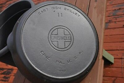 Griswold No. 11 Skillet with Heat Ring. Large Logo. P/N : 717