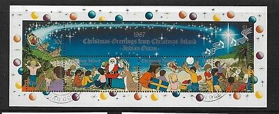 1987 Christmas Mini Sheet Complete Fine Used as Per Scan