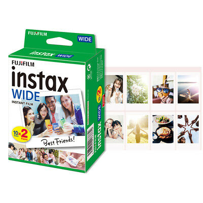Fujifilm Instax 20 Sheets Snapshot Instant Print Shots Film Photo WIDE300 X2P6
