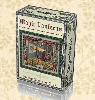 Antique Magic Lantern Books on DVD - Optical Projector Glass Old Slides Lens 262