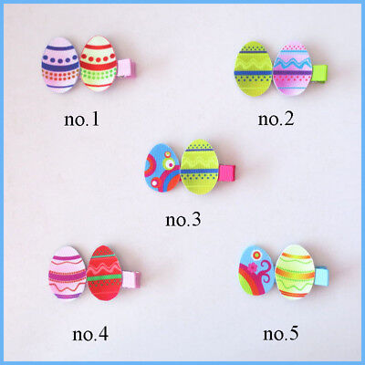"""50 BLESSING Fashion 2.5"""" Hair Clip Bow Easter Spring Rabbit Chicken Egg Baby"""
