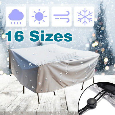 16 Size Waterproof Outdoor Furniture Cover Yard UV Table Chair Shelter Protector