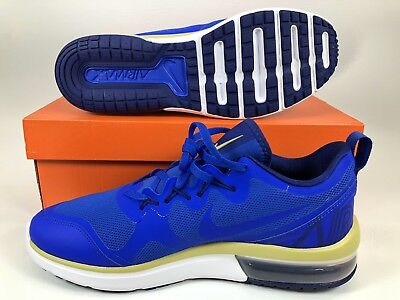 lowest price d6831 41f80 Men s Nike Air Max Fury Running Shoes Size 11.5 Blue Gold AA5739 402