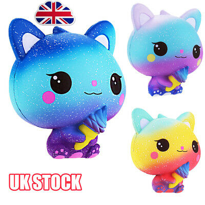 Cat Jumbo Squishies Scented Charms Kawaii Squishy Squeeze Slow Rising Kid Toy ER