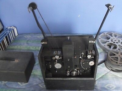 GB 16mm Film projector with speaker and films