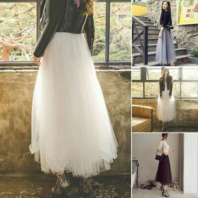 4a3f495f655738 FEMMES LONG MAXI Jupe Tulle 3 Couches Tuetuerock Mariage Jupon ...