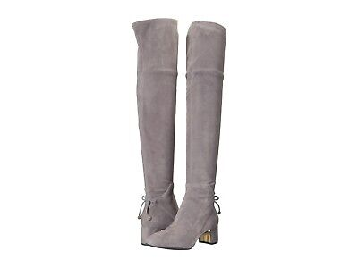 22fb7f16010  598 TORY BURCH Over the Knee Boots LAILA Thigh High Booties 6.5 Gray Suede