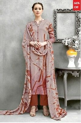Light Brown Cotton Printed Dress Material with Dupatta SM-SK-ARN-ADCT714