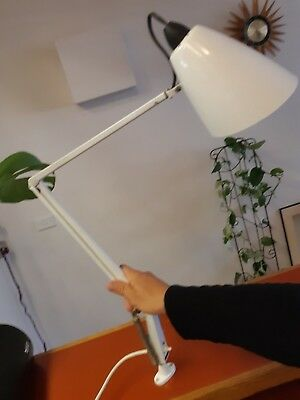 Vintage White Studio K Planet Lamp desk lamp. Working, is missing the base