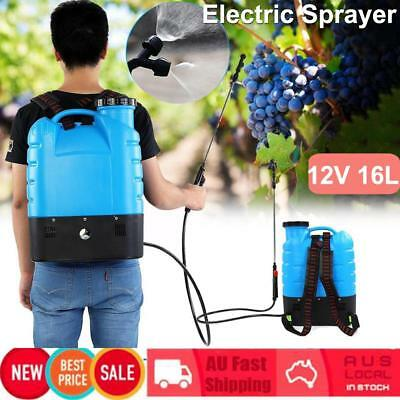 12V 16L Electric Weed Sprayer Rechargeable Backpack Farm Garden Pump Spray AU