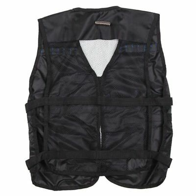 Top Tactical Vest For 12 Darts and 4 Ammo Clips In Nerf N Strike Games Blac Z2Z6