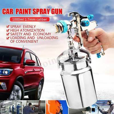 1000ml Professional Air Compressor Paint Spray Gun Car Truck Sprayer DIY Tools