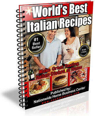 World's Best Italian Recipes  Pdf Ebook Free Shipping Resale Rights