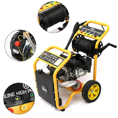 Petrol Pressure Washer 9L/min High Power Jet Cleaner 3950PSI 6.5HP Engine Tools