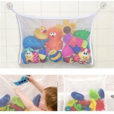 Kids Baby Shower Bath Toys Tidy Storage Bag Mesh Organiser Net 2 Suction Cup