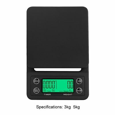 3/5KG LCD ELECTRONIC Digital Drip Coffee Kitchen Scale w