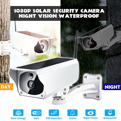 Full HD 1080p Solar WiFi P2p Outdoor Wireless Security IP Camera Night Vision