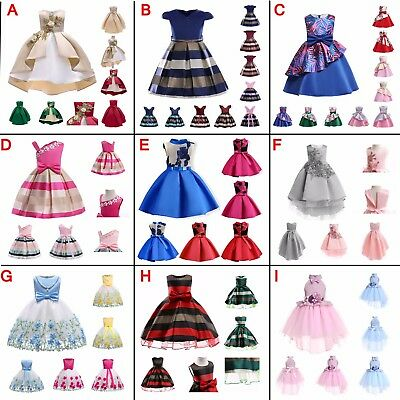 Girls Pearl Mesh Sleeveless Princess Dresses Kids Xmas New Years Gifts Outfits