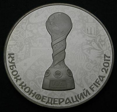 RUSSIA 3 Roubles 2017 Proof - Silver - FIFA World Cup - 1693