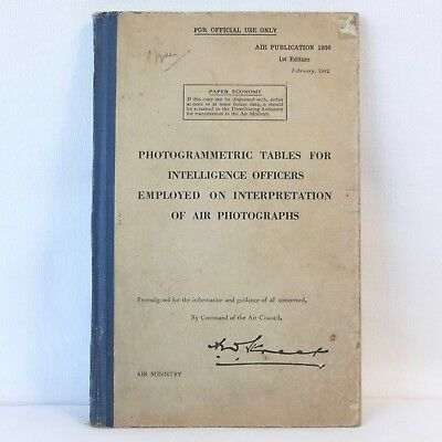 Ww2 Raf Intelligence Officers Aerial Photography Manual Royal Air Force Ministry