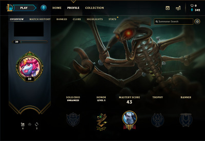 League of Legends EUNE account | 14 Champs | 1 Skin | Unranked | Smurf | LvL 30+