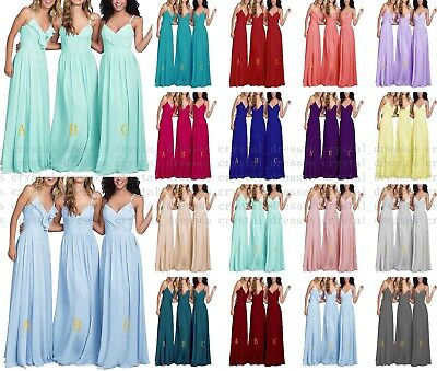 Formal Long Multiple types Chiffon Evening Party Ball Gown Prom Bridesmaid Dress