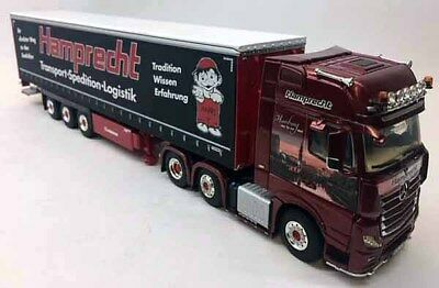 02-2304 WSI 1:50 Mercedes Actros Giga Space Hamprecht Spedition Curtain Side