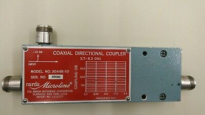 Coaxial Directional Coupler, Narda 3044B-10 dB, 3.7 to 8.3 GHz  N(f)
