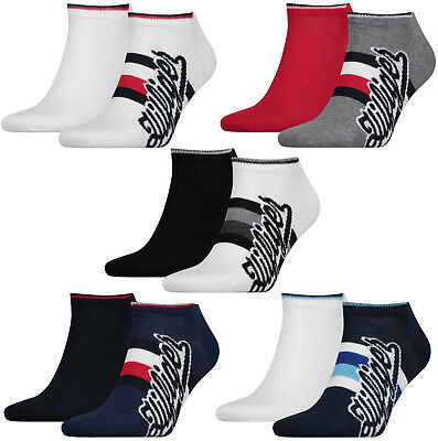 TOMMY HILFIGER HERREN Sneaker Socken Füßlinge TH Men 2er