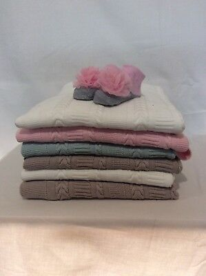 5 Colour Baby Kids Organic Cotton Knitted Blanket Cover , Comfy Blankets