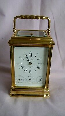 Vintage 4 Dial Gorge Case L'epee Repeater Carriage Clock In Good Working Order