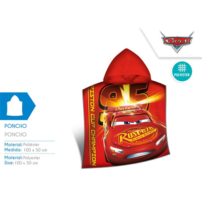 Poncho Mare Microterry 100X50 Cm Cars