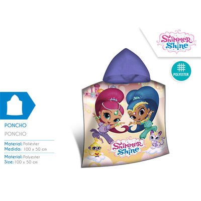 Poncho Mare Microterry 100X50 Cm Shimmer And Shine