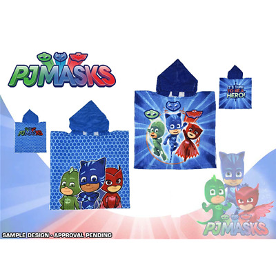 Poncho Mare Microterry 140X70 240Gsm 2 Modelli Pj Masks