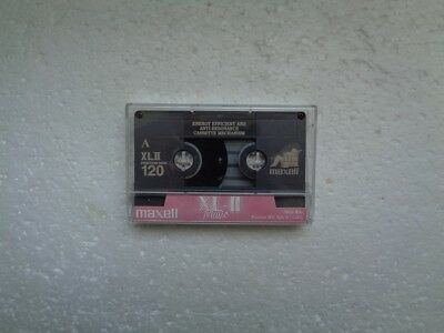Vintage Audio Cassette MAXELL XL-II 120 From 1996 - Fantastic Condition !!