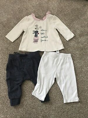 Baby Girls Top And Bottoms, 3-6months. NEXT Mini Club.