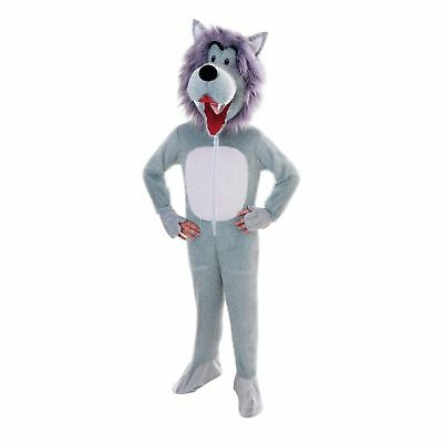 Boys Girls Kids Wolf Big Head Fancy Dress Book Day Animal Upto 146Cm Panto