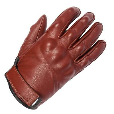 Spada Wyatt Ladies Womens Oxblood Leather Motorcycle Motorbike Bike Gloves