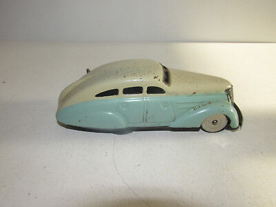 altes Schuco Patent 1010 Blechauto Wendeauto Made in US Zone Germany 14cm