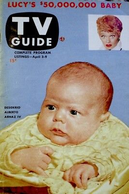 TV Guide 1953 Lucy's $50,000,000 Baby V1N1 #1 Lucille Ball I Love Lucy EX COA
