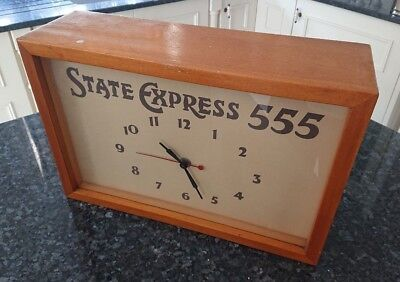 State Express 555 Ardath Smiths wall clock wood  vintage antique advertisement