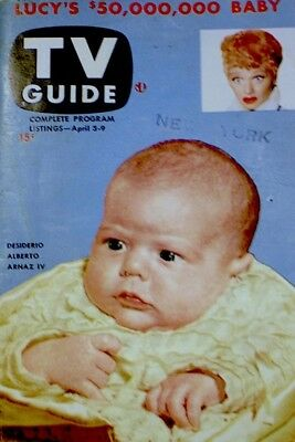 TV Guide 1953 Lucy's $50,000,000 Baby V1N1 #1 Lucille Ball I Love Lucy VG/EX COA