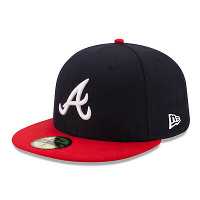 New Era 59FIFTY Cap Atlanta Braves Authentic On-Field Game MLB 2019 schwarz