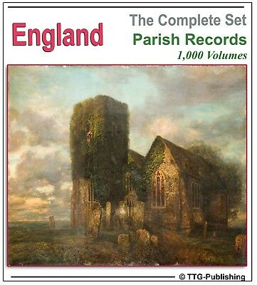 1,010 English Parish Registers -4 DVDs Genealogy Ancestry Family Tree History 71