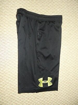 Under Armour Loose Fit Boys Shorts Pockets Youth L Black